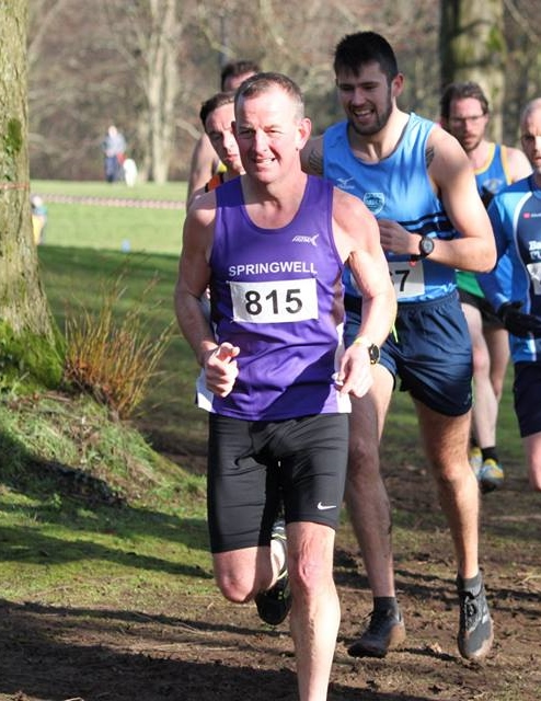 Maurice Walker (Springwell RC) at the Stormont XC (photo Dermot Boyd)