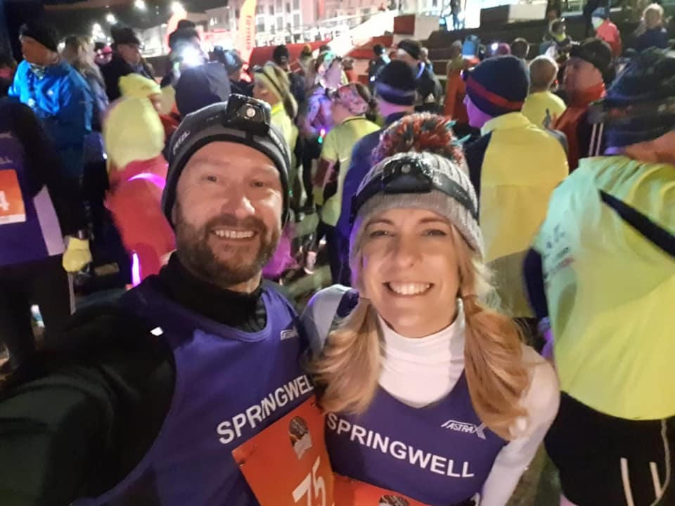 Dave King and Catherine Bell-Allen at the Northern Lights 10k