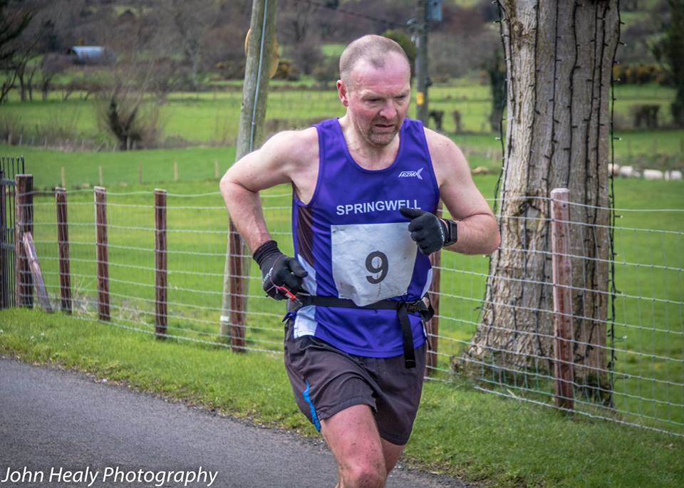 Alex Brennan at the Glenariff Mountain Race (Photo – John Healy)