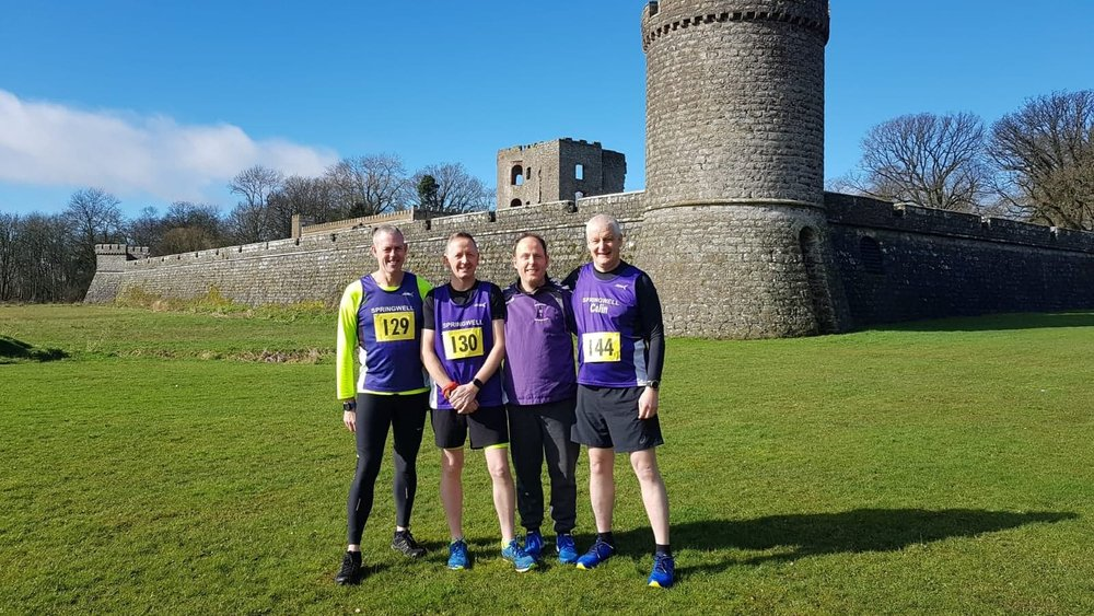 Paul Dornan, Michael Mulvenna, Ruari Bradley and Colin Connolly at the Shanes Castle HM