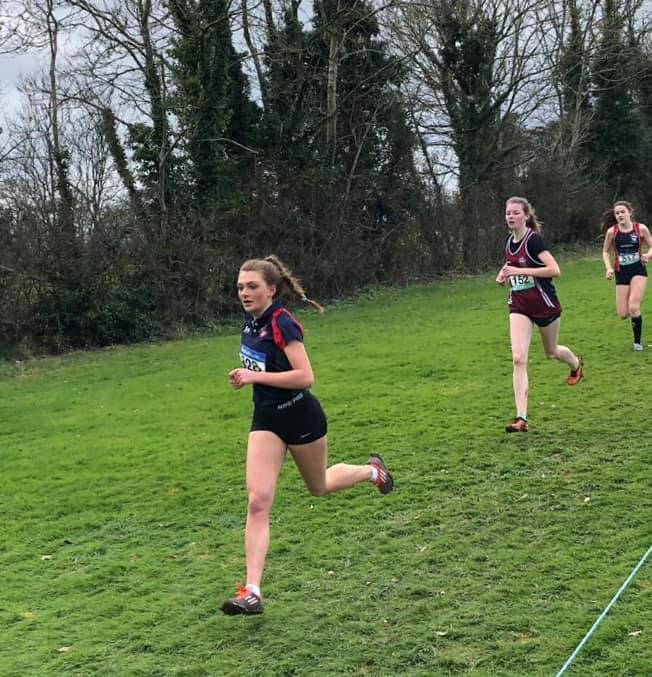 Hermione Skuce at the Irish Schools Cross Country