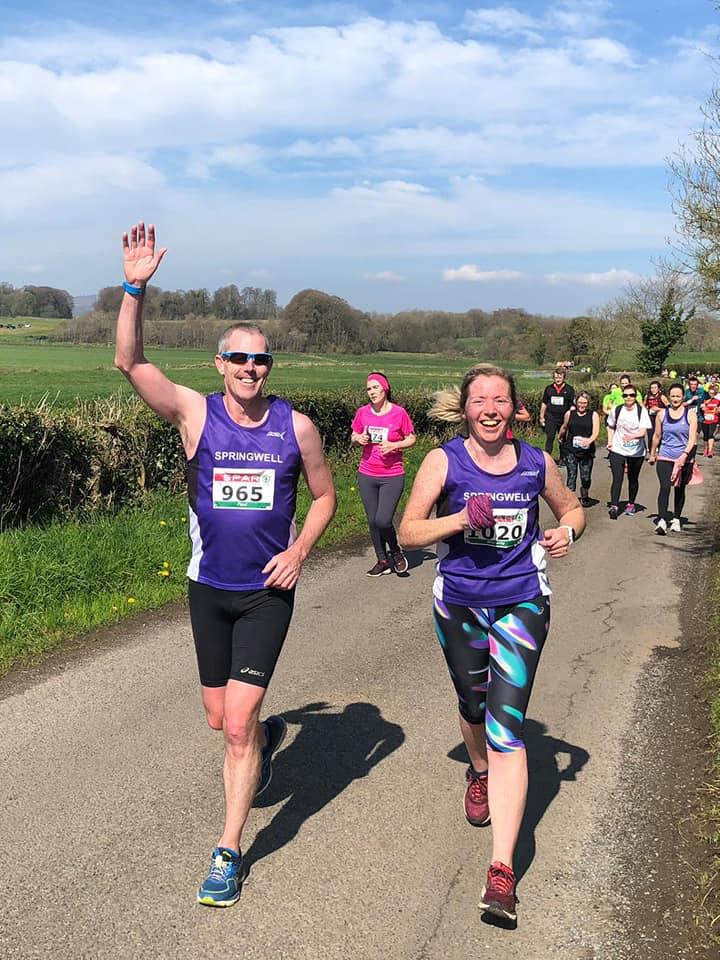 Paul Dornan and Mariette Mulvenna at the Omagh Half Marathon