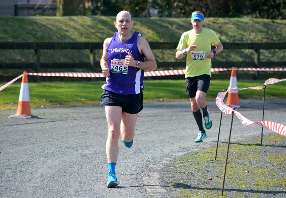 James Stewart at the Omagh Half Marathon – Photo Richard McLaughlin