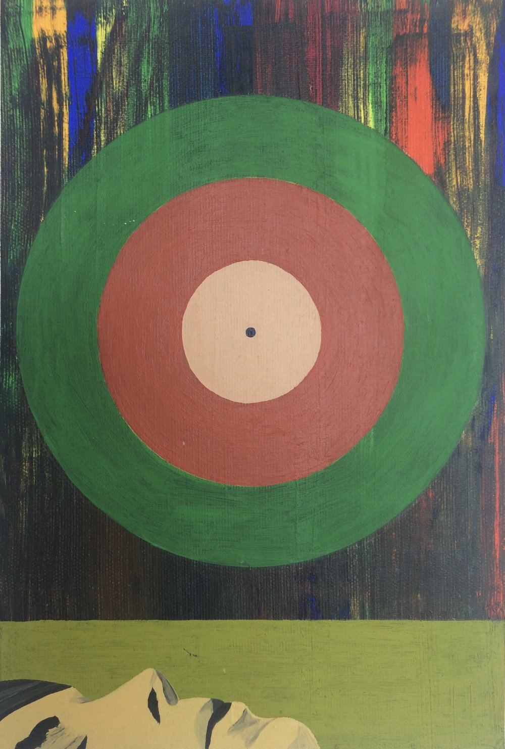 Target the Sun - 1997 - 13x9.5 Oil on Canvas