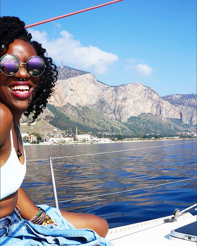 Yesterday was our first Sicilian boat day! The gang took the morning to sail around the island, swim in those crystal blue waters, and even saw dolphins! 🐬 . What's better than having the freedom to enjoy Friday boat days, meet awesome people, and still be productive? Nothing 😉 (📸@theracheden/ model:@tosinfinityandbeyond) . #sicilylife #findyourpack #imonaboat #sailing #liveyourbestlife #getoutthere #joinus #traveleverywhere #remotework