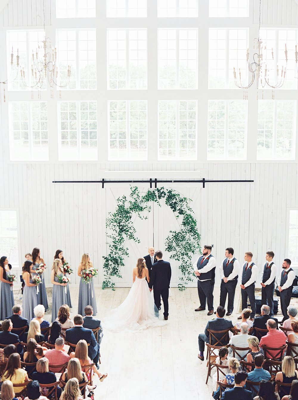 Venue: White Sparrow Barn | Dress: Tara Keely | Hair & Makeup: Beauty and the Blush | Florals: Oh Deery Floral