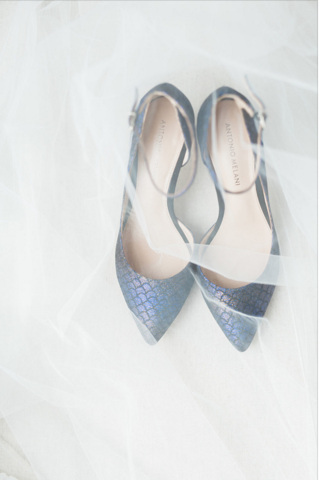 Something Blue Wedding Shoes Inspiration | Maroon and Navy Rustic Winter Wedding in Fort Worth, TX