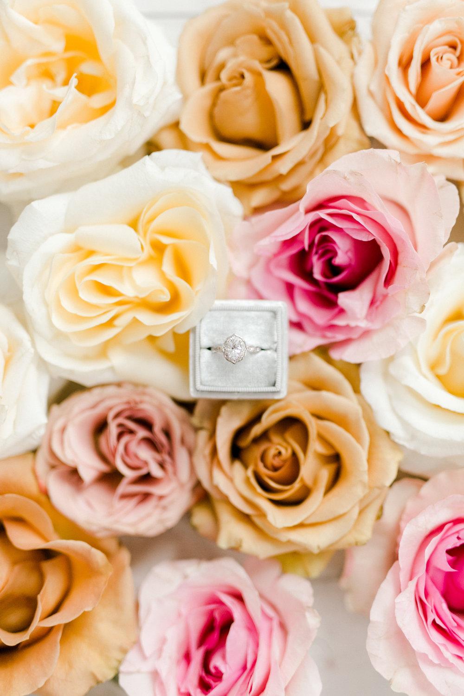 Vintage Ring Design | Ballet Inspired White Barn Wedding Rustic Spring
