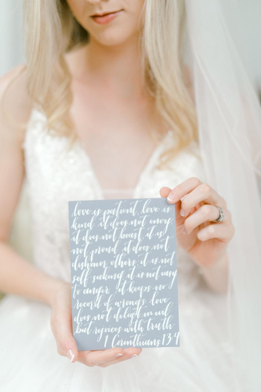 Custom Calligraphy Vow Book | Ballet Inspired White Barn Wedding