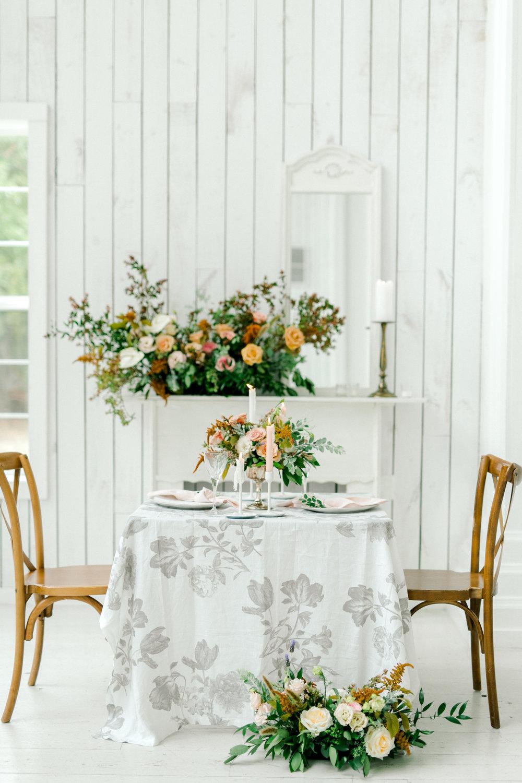 Fall Pastel Wedding Design | Ballet Inspired White Barn Wedding