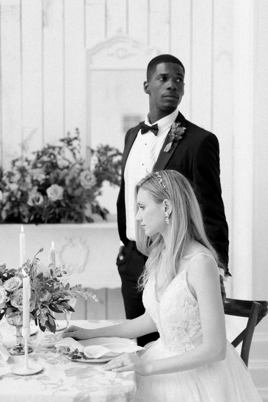 Formal Fall Wedding | Ballet Inspired White Barn Wedding