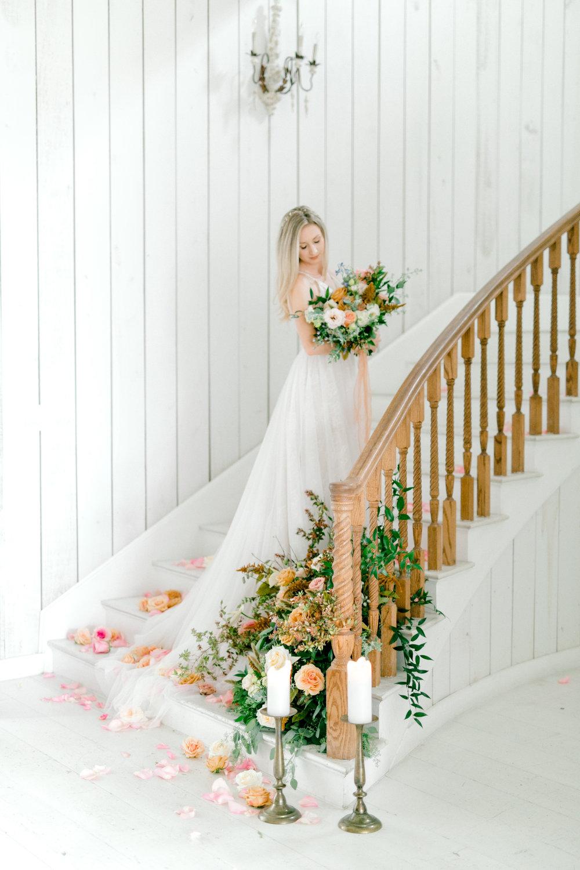 Fall Foliage Wedding Design | Ballet Inspired White Barn Wedding