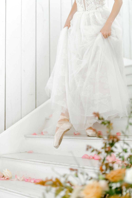 Ballet Inspired Bridal Look | White Barn Ballet Inspired Wedding