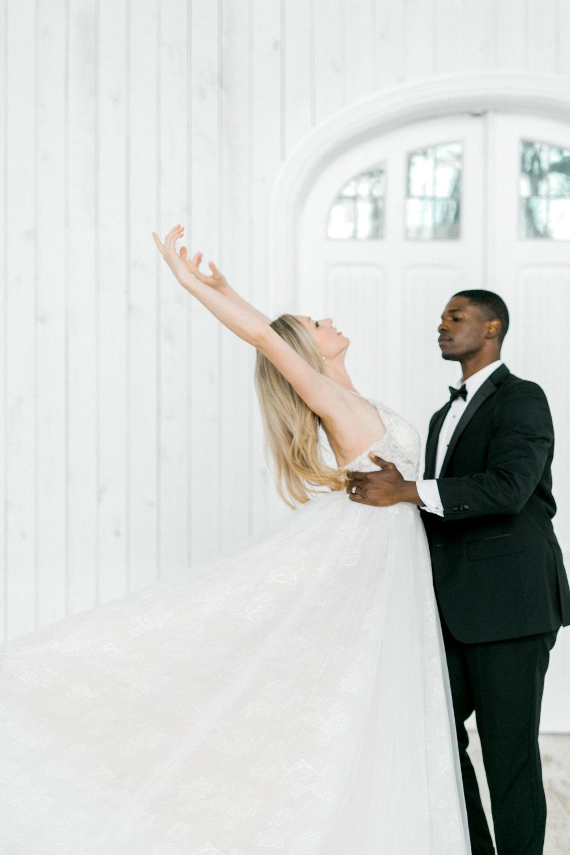 Ballet Inspired First Dance | White Barn Fall Wedding