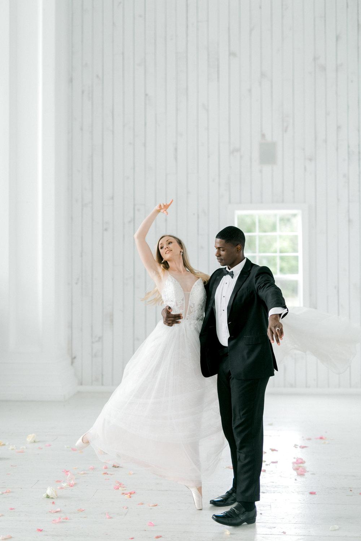 Ballet Inspired White Barn Wedding