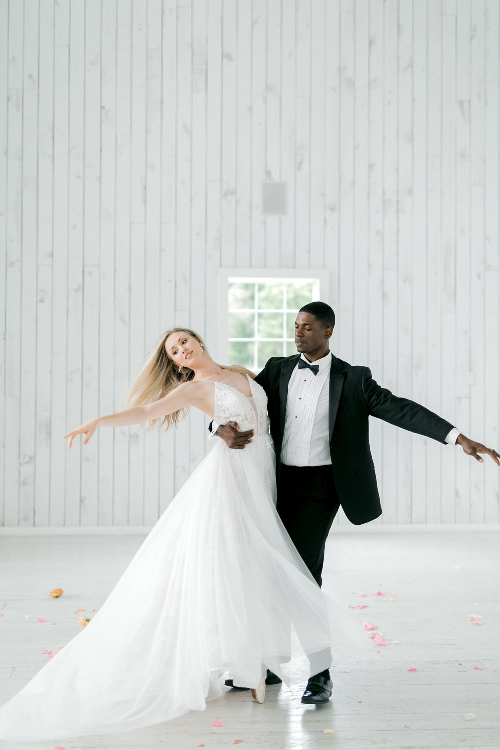 Ballet Inspired Wedding | Rustic Fall White Barn Wedding with Pastel Colors