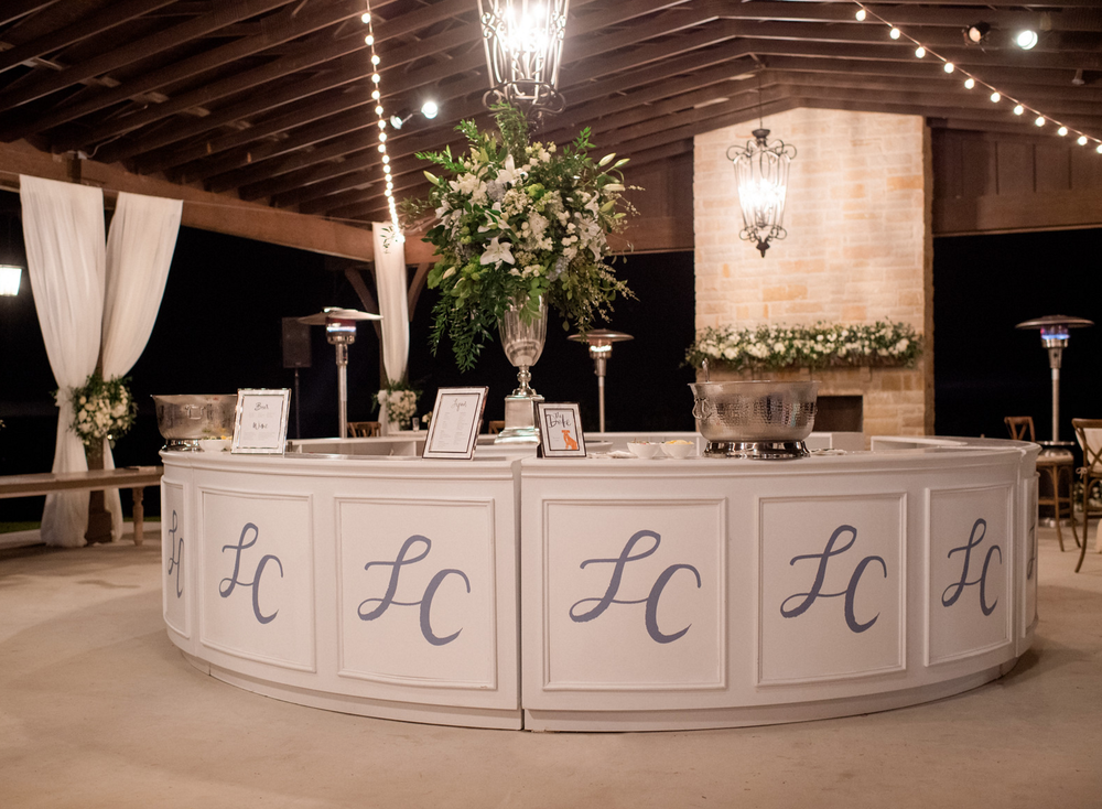 Rustic White and Blue Wedding Reception | Spring Texas Vineyard Wedding