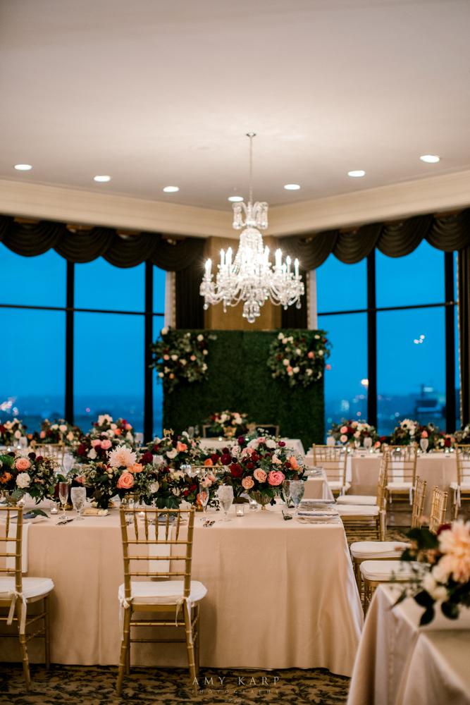 Formal Ballroom Fall Wedding | Maroon and Navy Wedding Colors