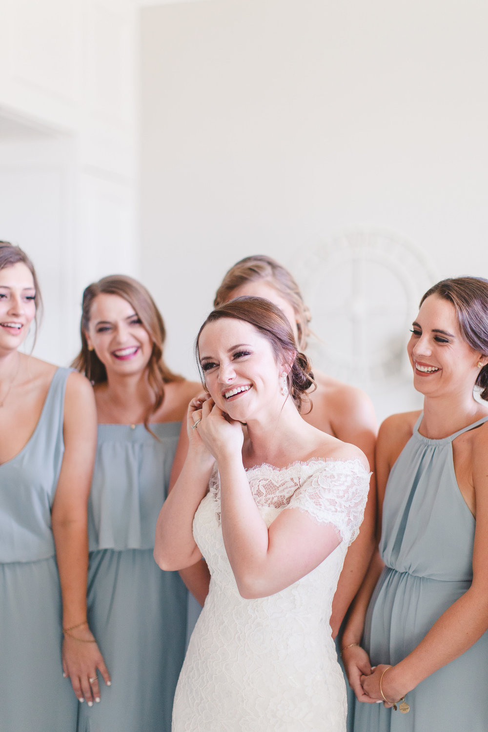Dusty Blue Bridesmaids Dresses | Rose Gold and Dusty Blue Winter Wedding in Dallas, TX