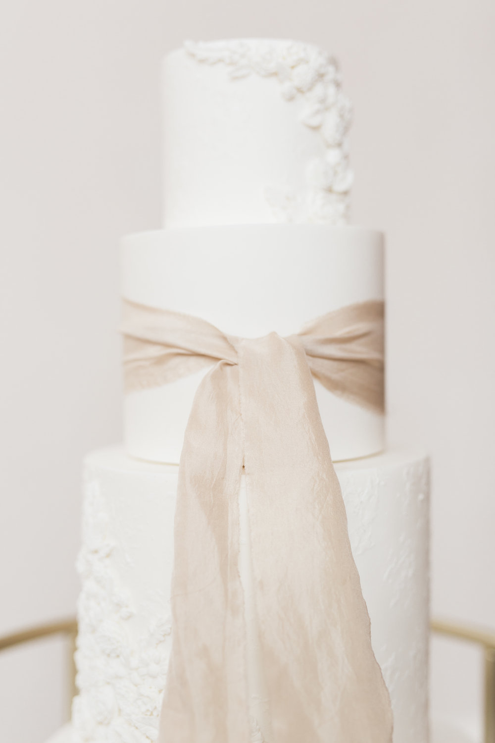 Textured White Wedding Cake | European Inspired Winter Wedding