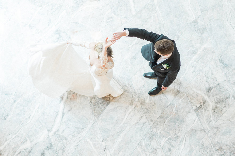 Bride and Groom First Dance | European Inspired Fine Art Wedding in Fort Worth