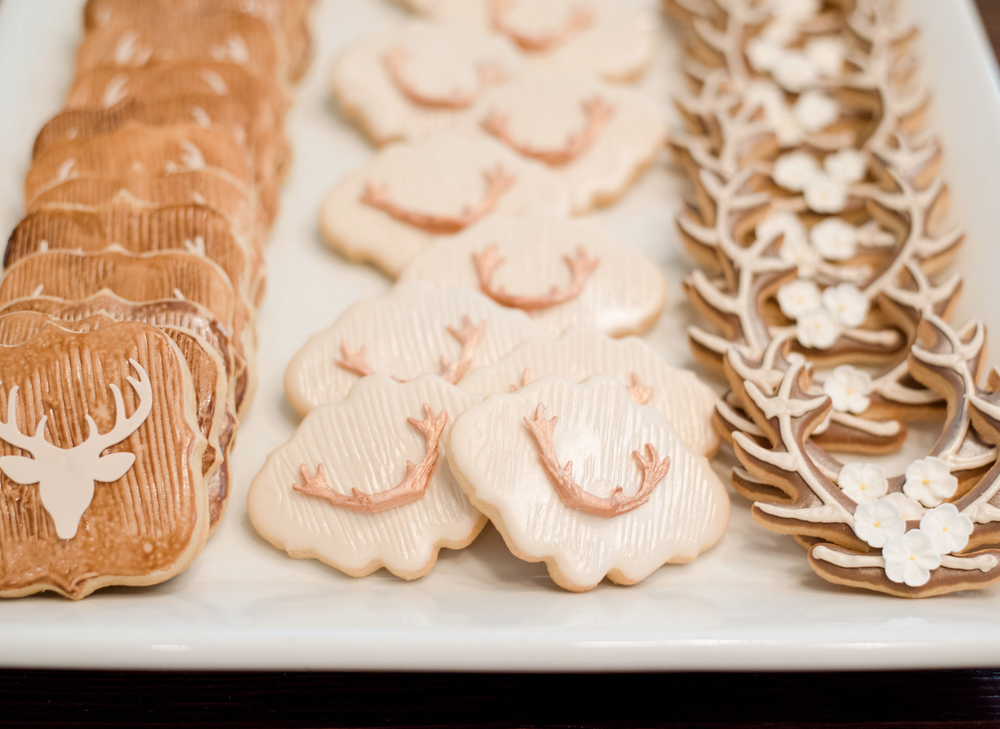 Wedding Cookie Favors | Rustic Vibrant Southern Backyard BBQ in Fort Worth