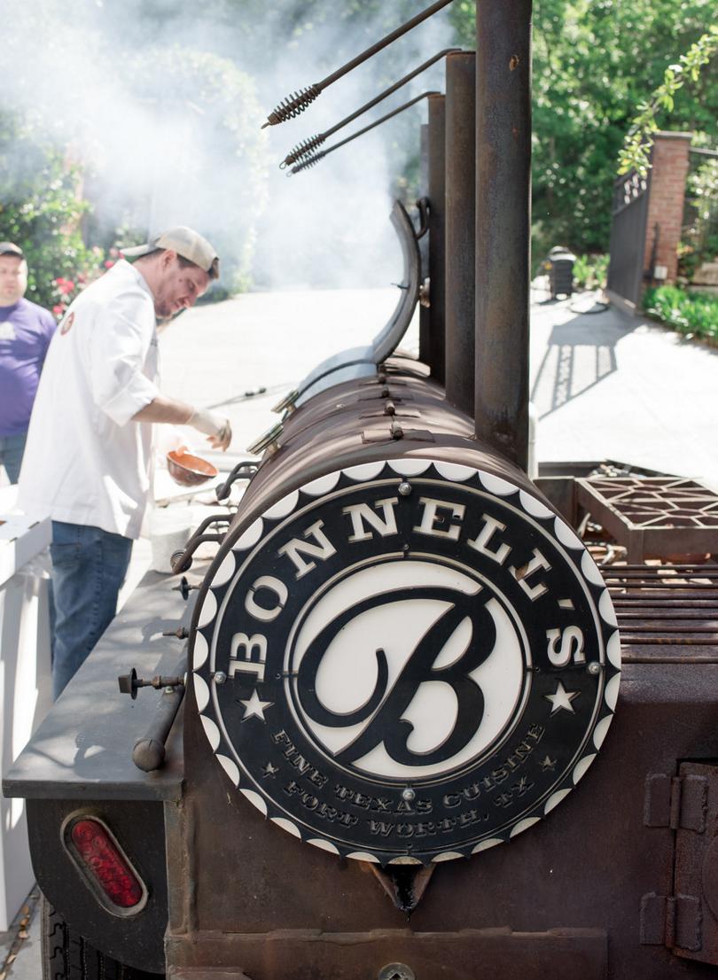 Backyard BBQ Smoker | Rustic Vibrant Southern Backyard BBQ in Fort Worth