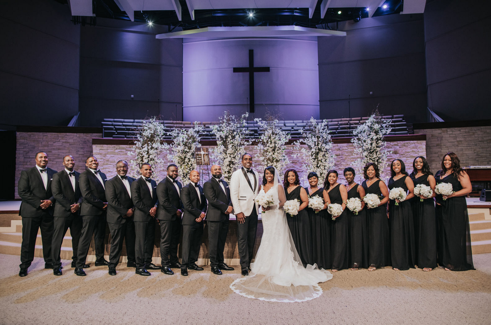 Black Luxe Formal Wedding Party | Dallas Wedding Planning