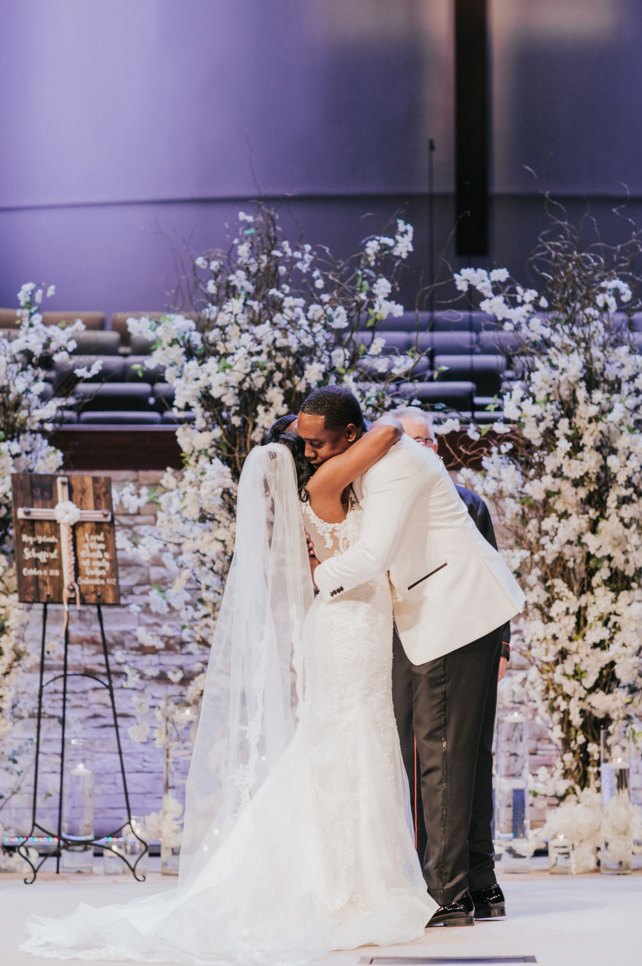 Modern Ceremony Floral Backdrop | Dallas Wedding Planner