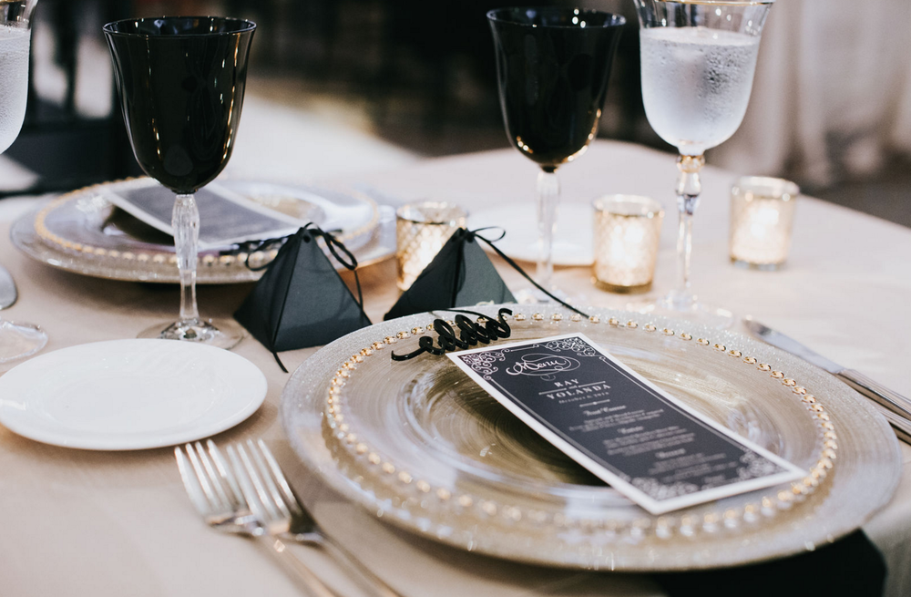 Black and Gold Wedding Table Design | Dallas Wedding Planning