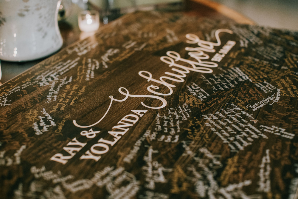 Custom Guest Book | Modern Downtown Dallas Wedding