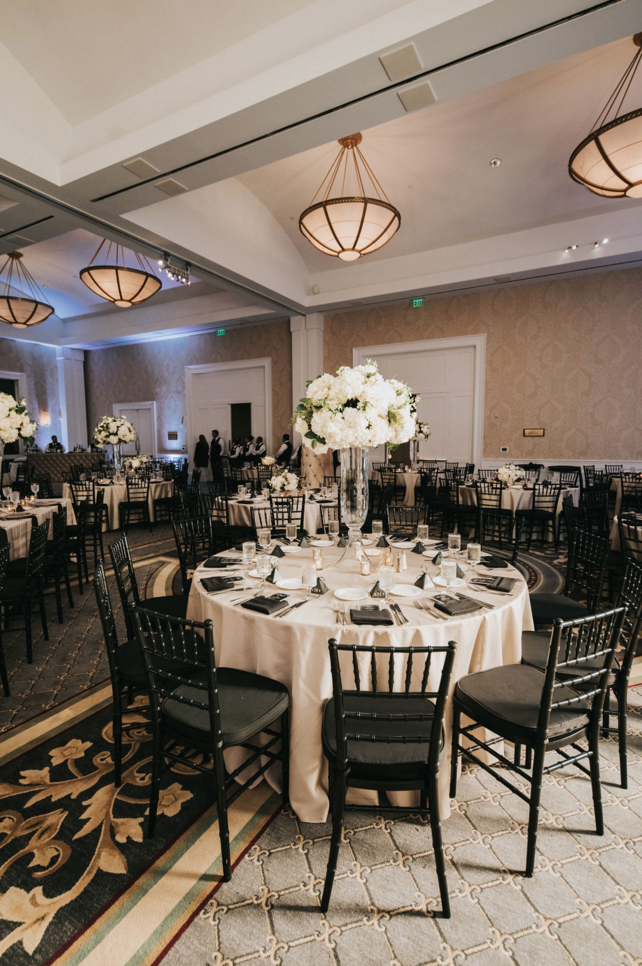 Modern Luxe Dallas Wedding Reception | Downtown Dallas Wedding