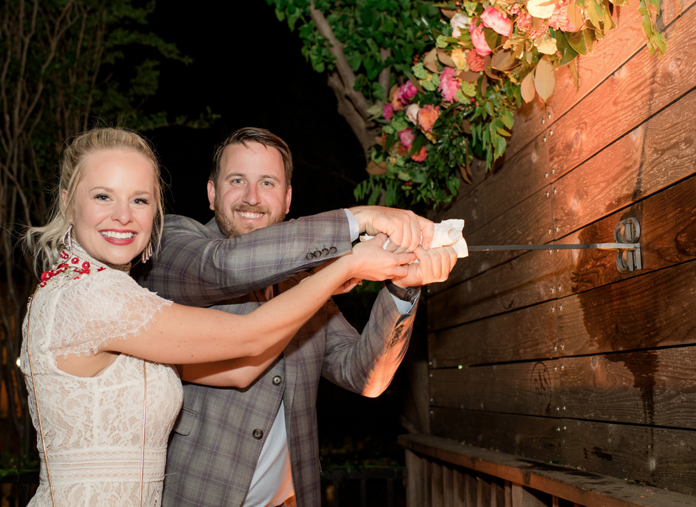 Bride and Groom Custom Iron Brand | Rustic Outdoor Texas Rehearsal Dinner