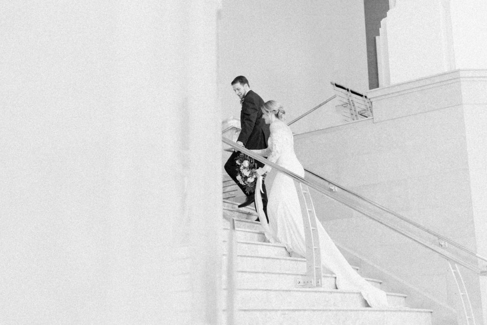 wedding photography black and white film fine art portraits