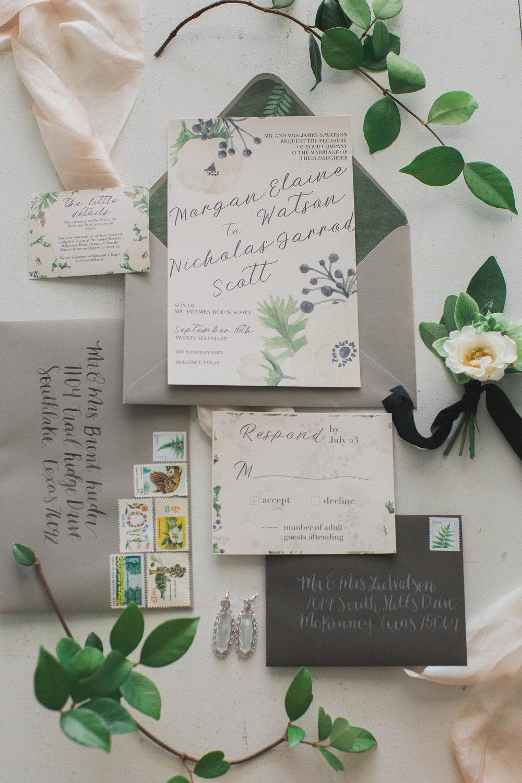 Flat Print Invitations