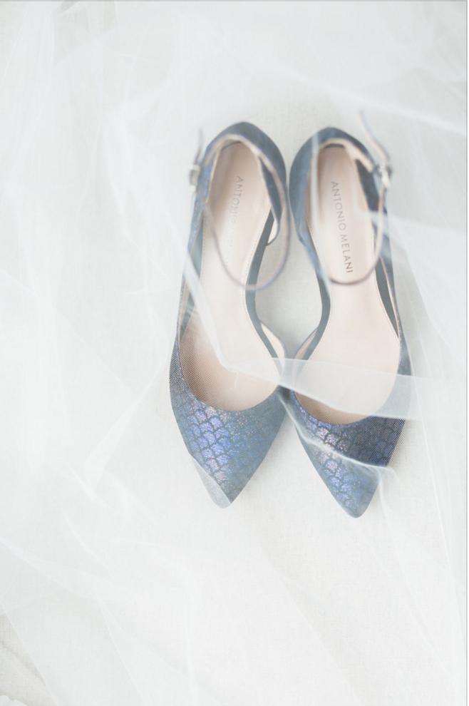 blue wedding shoe inspiration