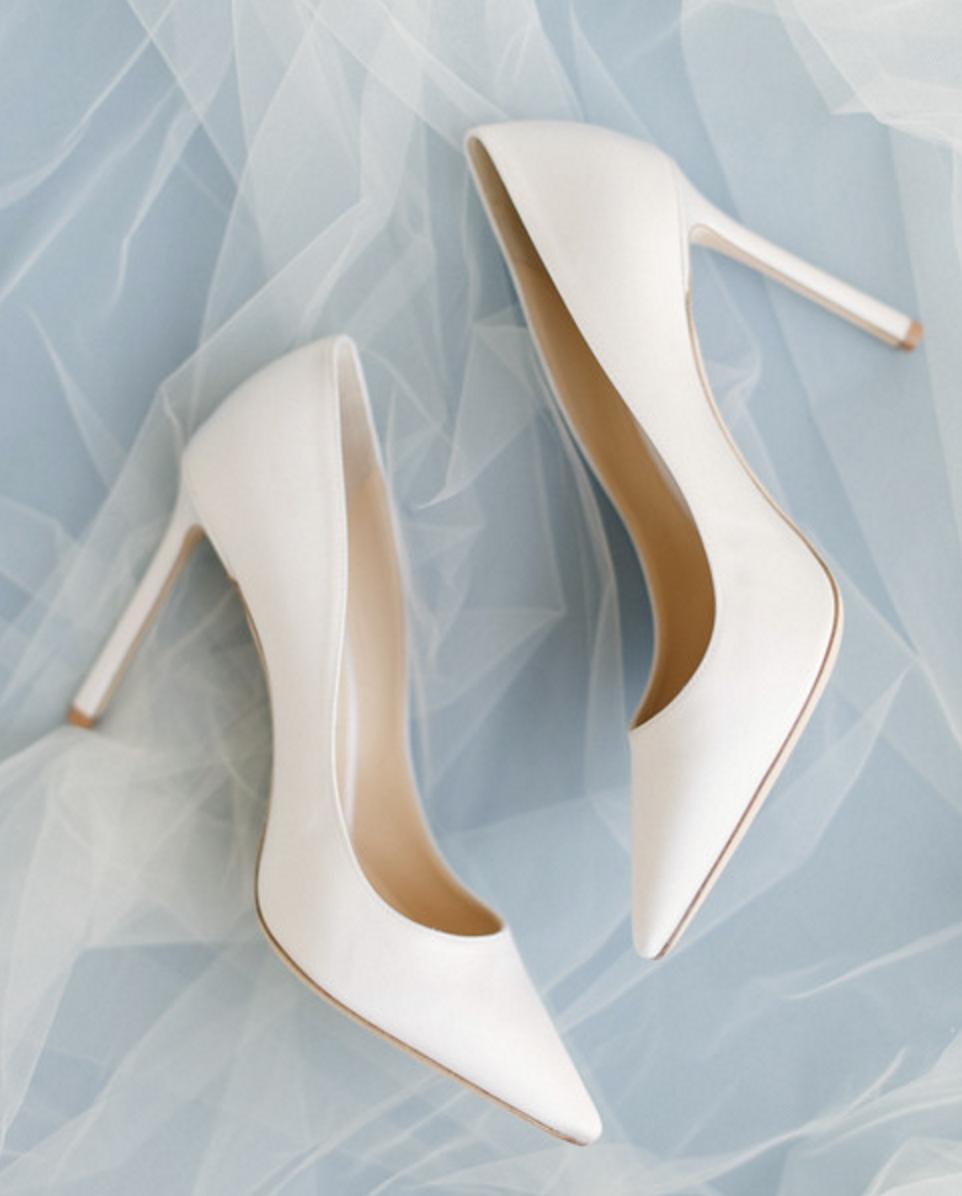 classic white wedding heels inspriation