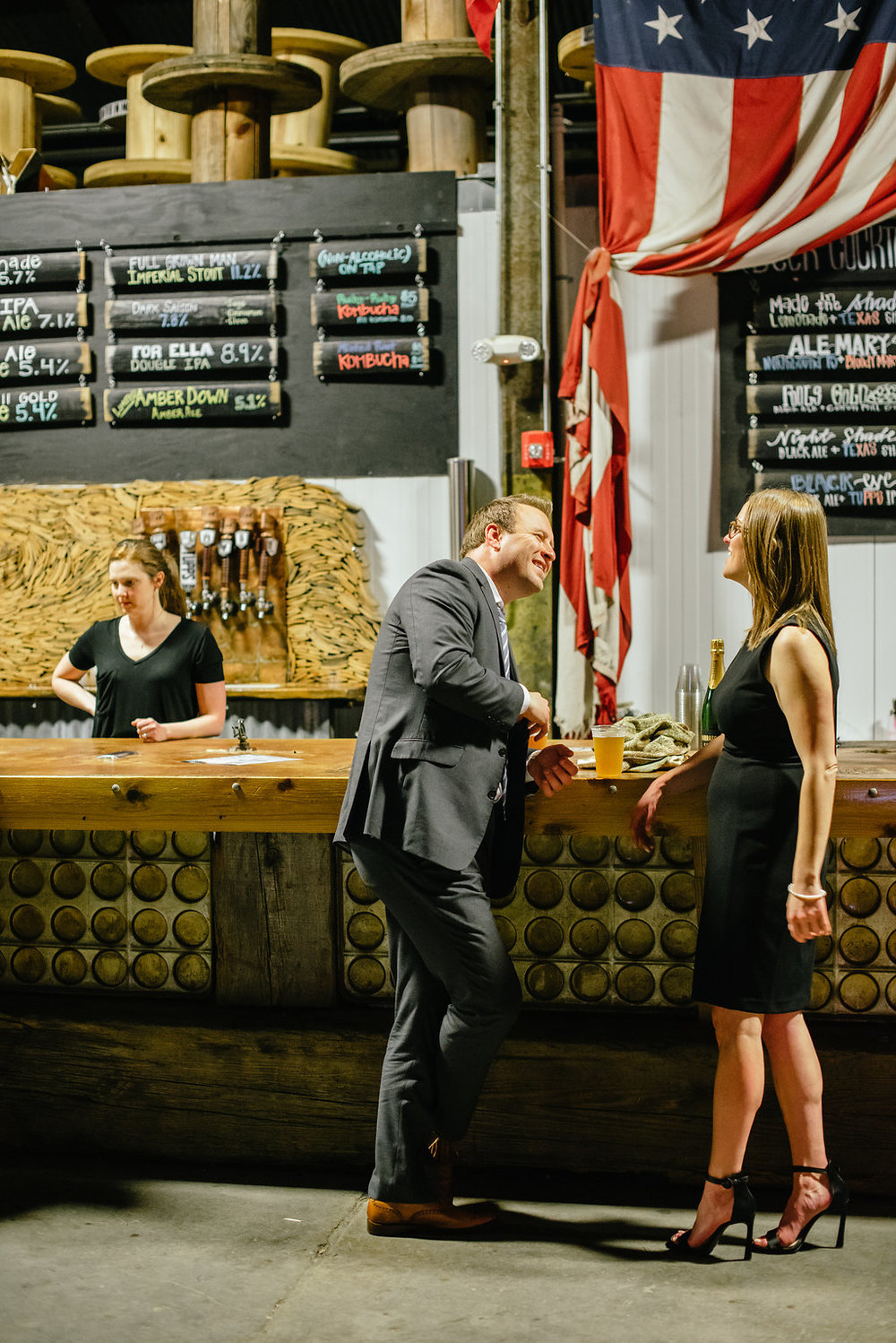 Modern Eclectic Brewery Wedding Reception