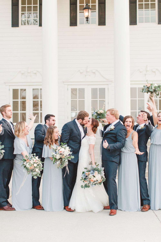 Southern mansion winter wedding