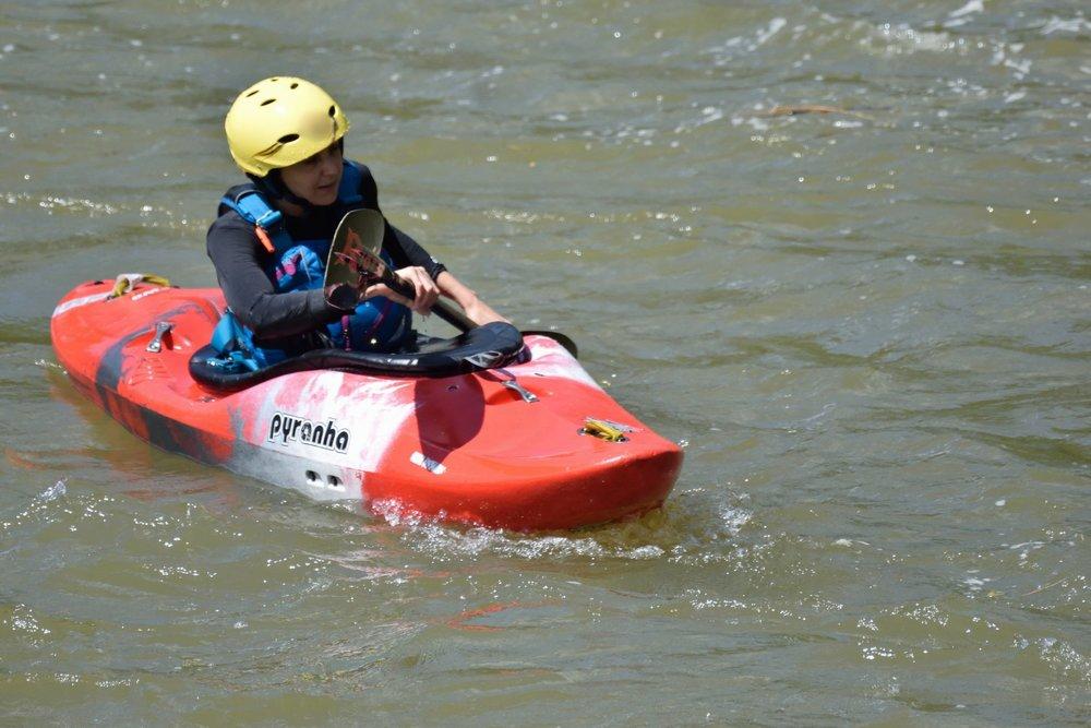 Kayaking in Sri Lanka on the Kelani river in Kithulgala.