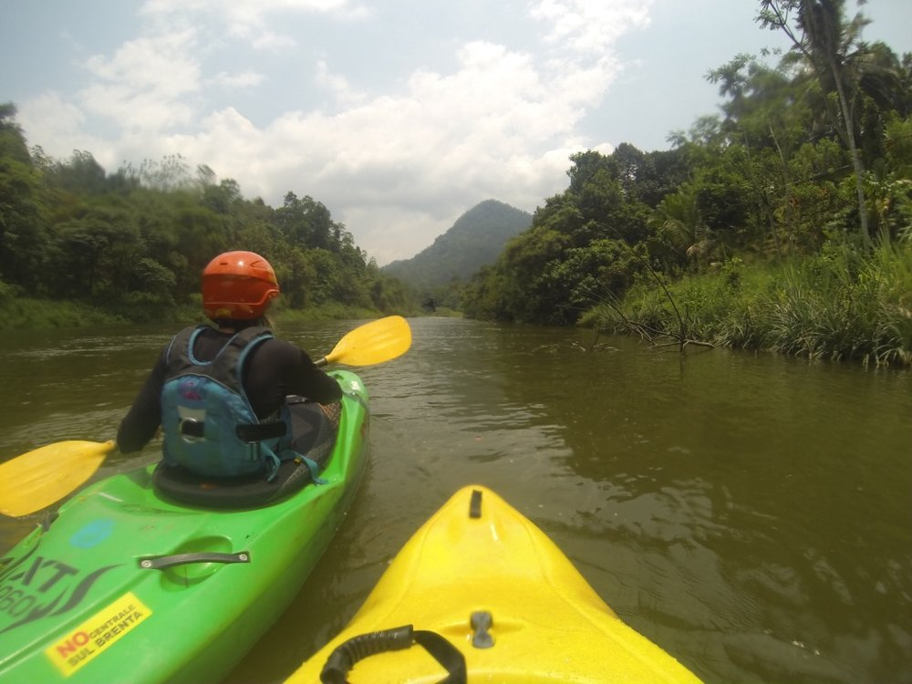 Kayaking River Kelani Sri Lanka
