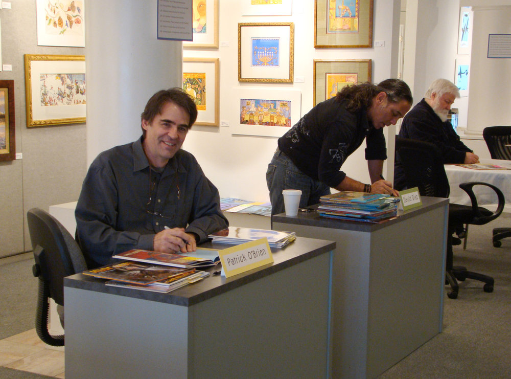 signing books in Los Angeles, 2010