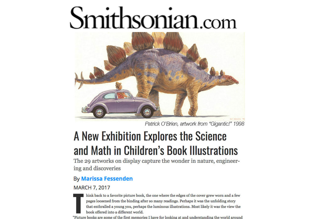 an article in Smithsonian Magazine featuring O'Brien's artwork