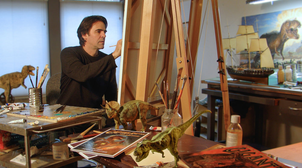 Patrick in his studio