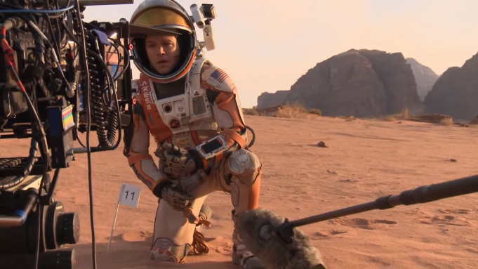 Ridley Scott's The Martian sees Matt Damon play a stranded astronaut surviving on Mars, but filming took place right here on planet Earth, at Korda Studios near Budapest.