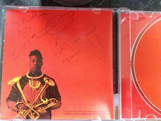 "Throwback to November 2015 when we opened for the legend Christian Scott at The Sugar Club.  He gave us one of his CD and we asked him to please sign it, he wrote: ""To my brothers CEO, until we meet again"". We really hope to meet again Christian, it's been to long!  For you guys who haven't heard this amazing CD go get #stretchmusic its an amazing piece of art :)"