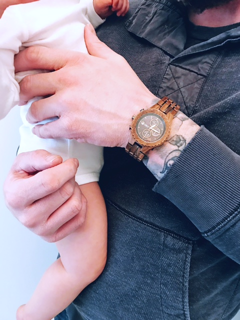 unique and cool men's wood watch