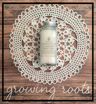 growing roots little flower relazing and detoxifying lavender bath salt
