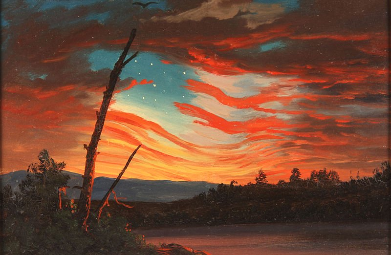 Our Banner in the Sky  , by Frederic Edwin Church, 1861