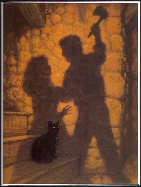 "Illustration of Edgar Allan Poe's  "" The Black Cat ""  by Greg Hildebrandt"